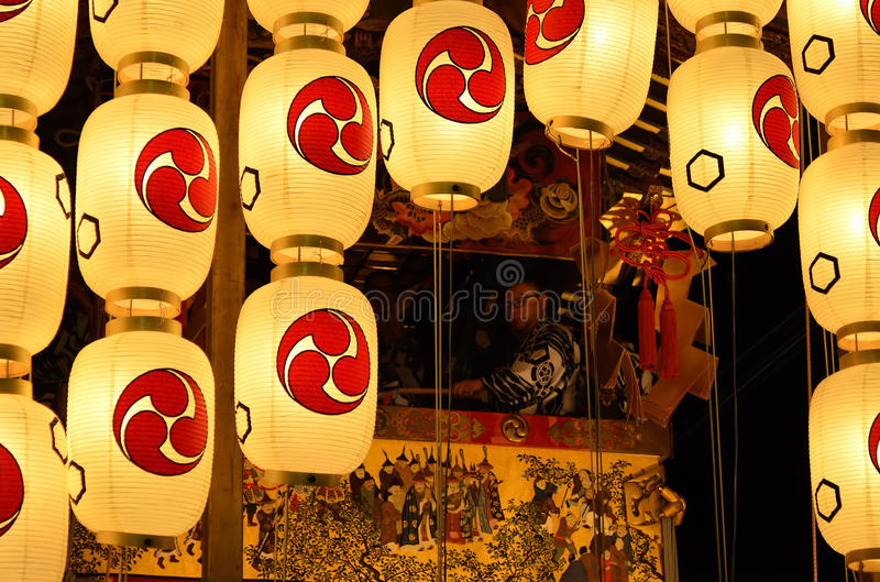 The night of Gion festival, Kyoto Japan stock images