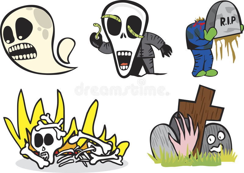 Night Grave royalty free illustration