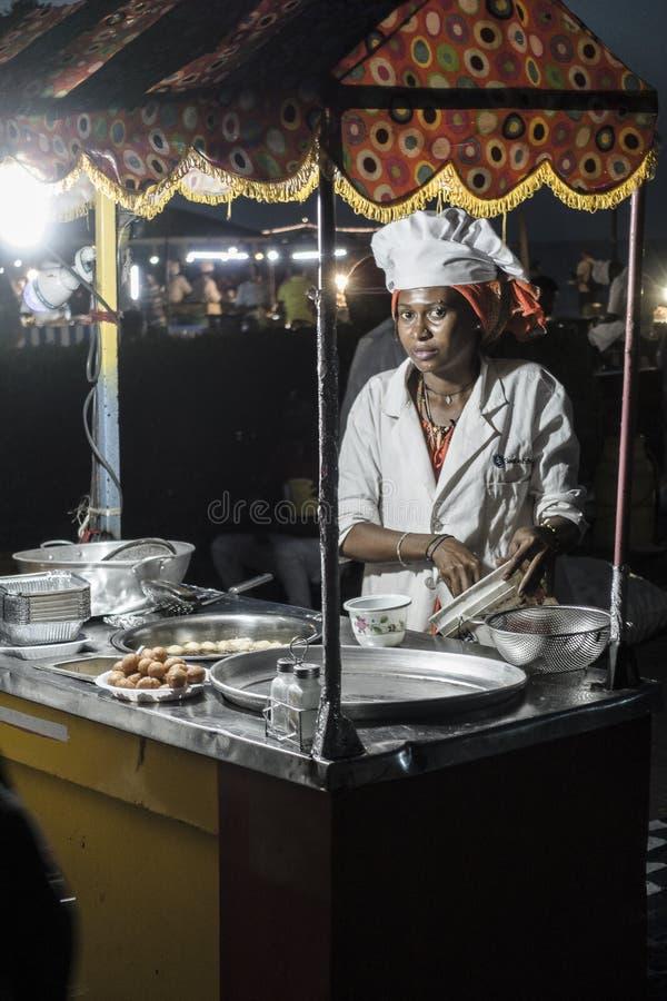 Night grill at Stone Town Zanzibar royalty free stock images