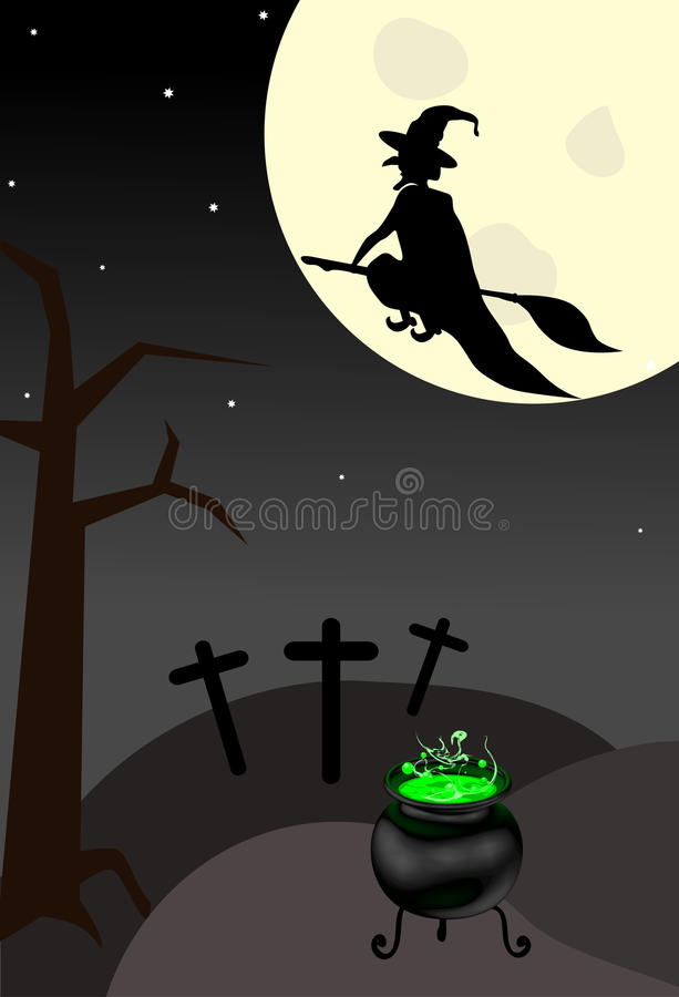 Night Before Halloween Stock Images