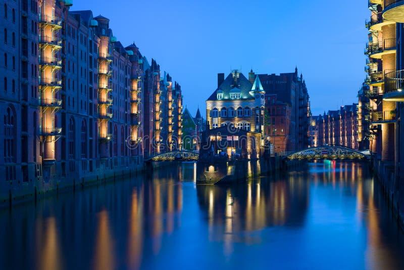 Night Hamburg royalty free stock image