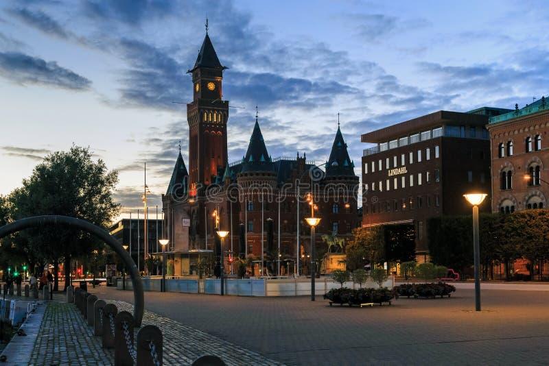 Night Helsingborg, Sweden royalty free stock image
