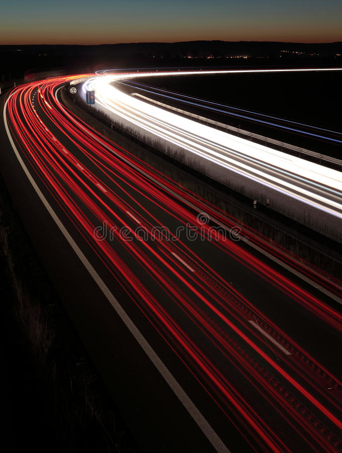 Download Night highway stock photo. Image of blurred, proceed - 14041184
