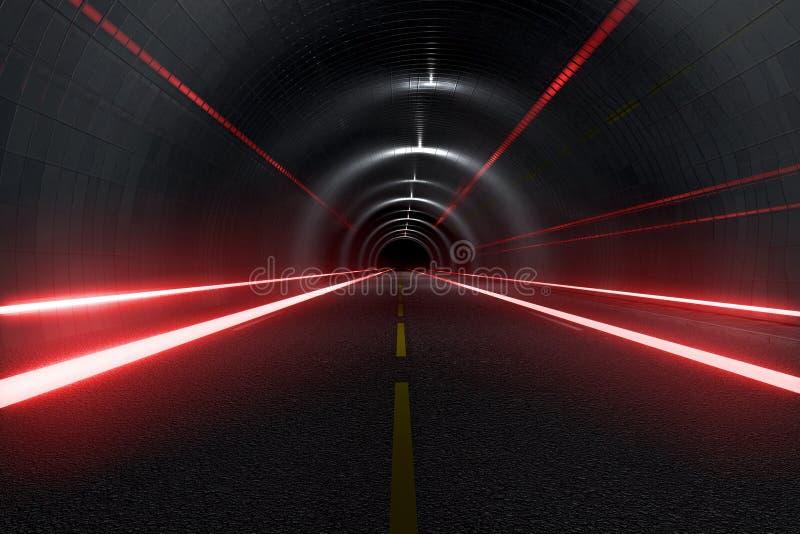 Night highway vector illustration