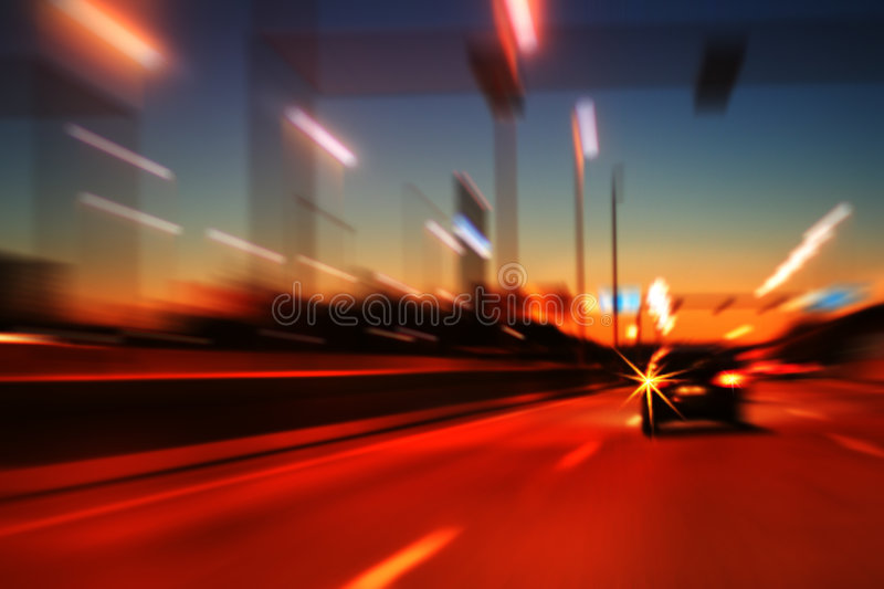 Night highway motion royalty free stock photos