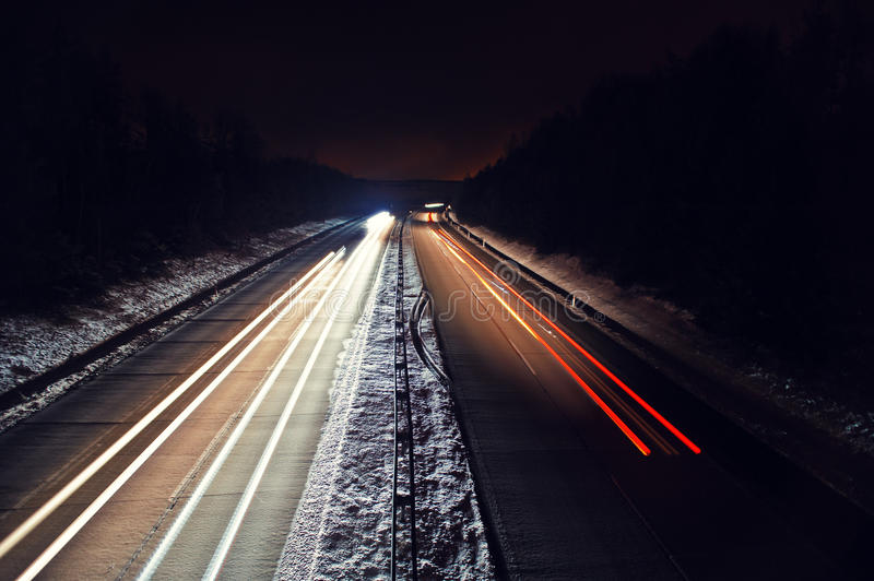 Download Night highway stock photo. Image of long, field, highway - 37159450