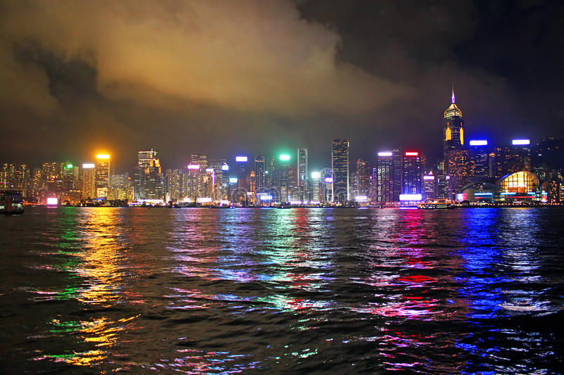 Night in Hong Kong royalty free stock photography
