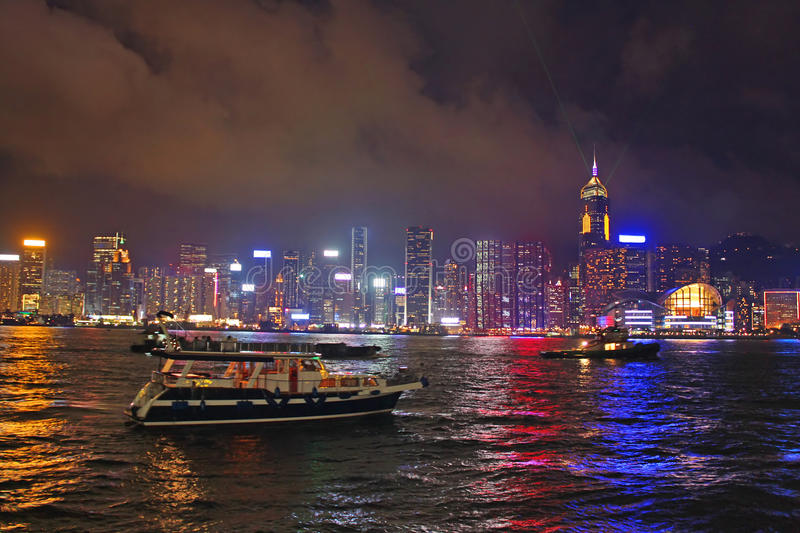 Night in Hong Kong royalty free stock photo