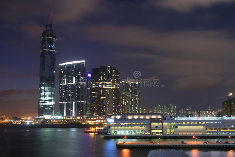 Night at HongKong stock image