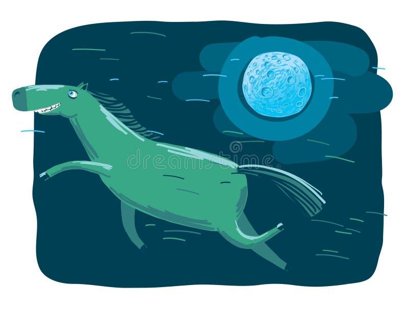 Download Night horse stock illustration. Image of flying, freedom - 11361835