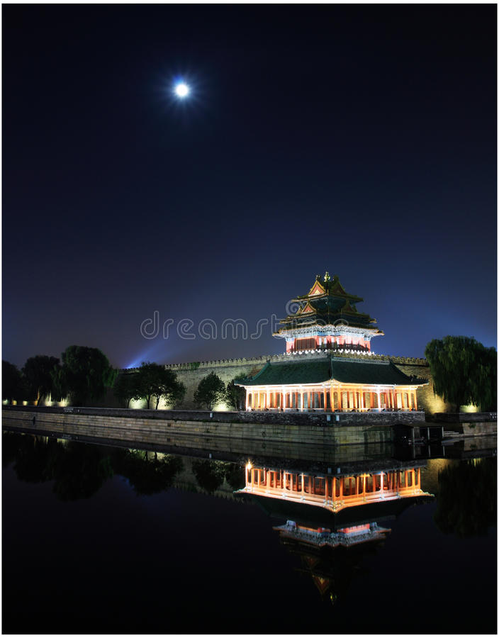 Night of the Imperial Palace stock image