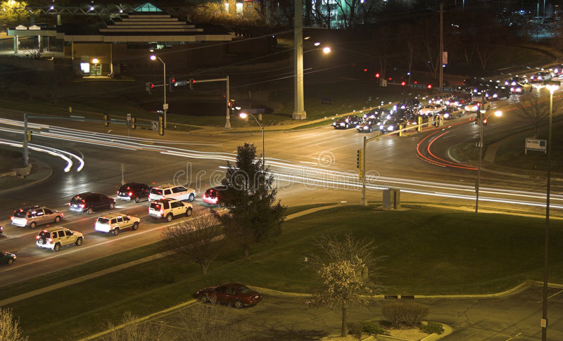 Download Night Intersection 1 Royalty Free Stock Images - Image: 2017209