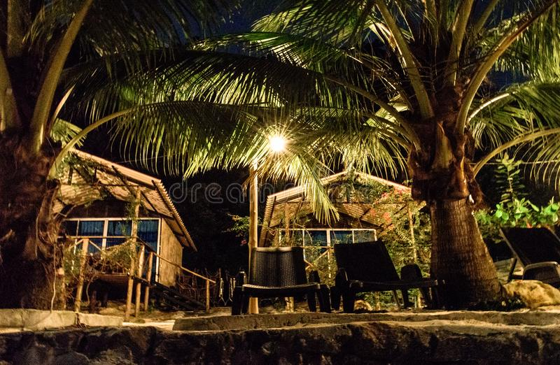 Cambodia. At night. Island. stock photo