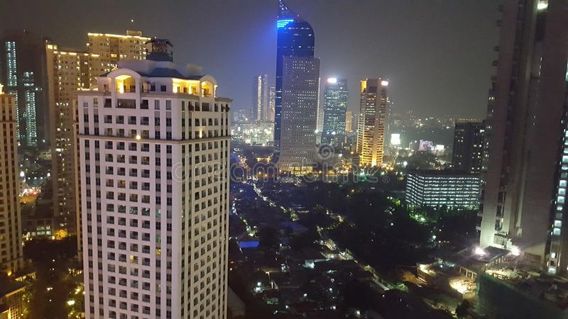 Night at jakarta royalty free stock image