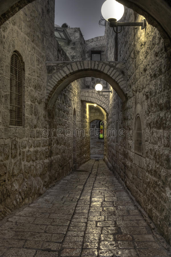 Download The Night In Jerusalem Streets Stock Image - Image: 21001753