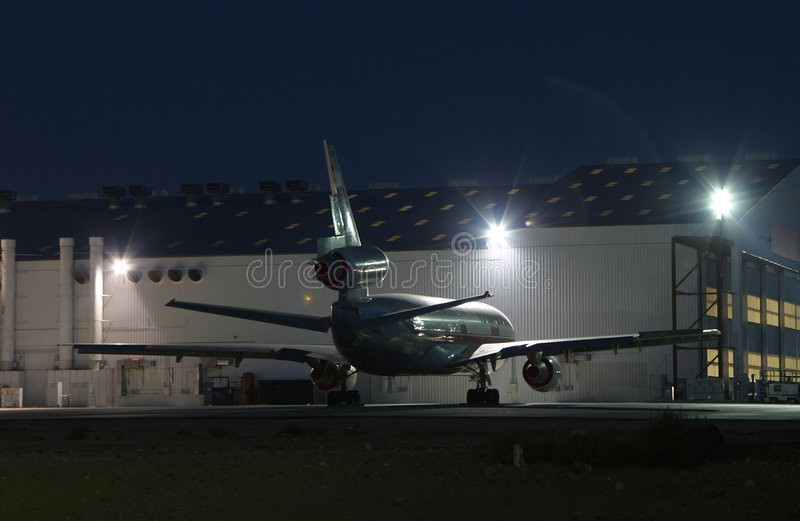 Download Night Jet #1 stock image. Image of night, time, airport - 459261