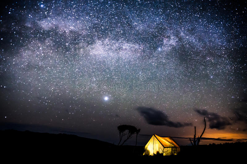 Night on Kilimanjaro stock image