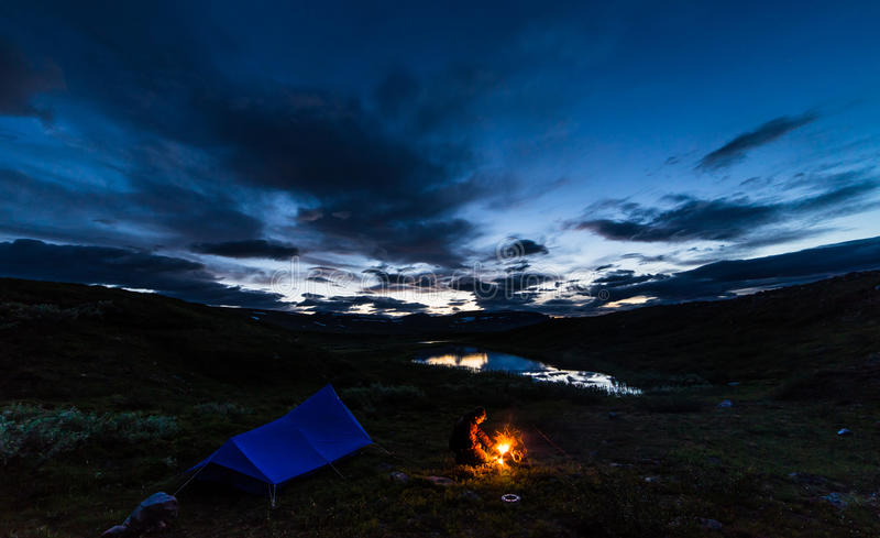 Night at the Kings trail stock images