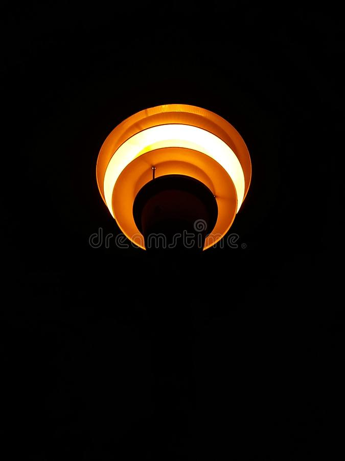 Night lamp with bright light stock photography