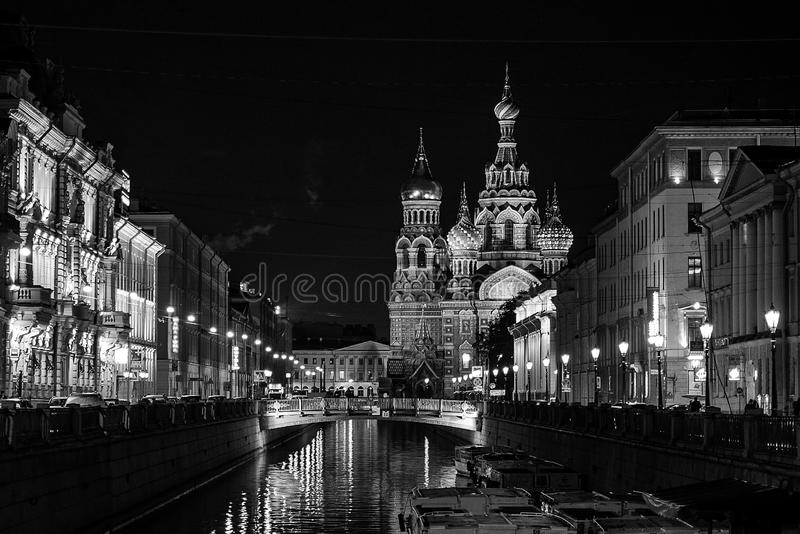 Night, Landmark, Reflection, Black And White royalty free stock photos