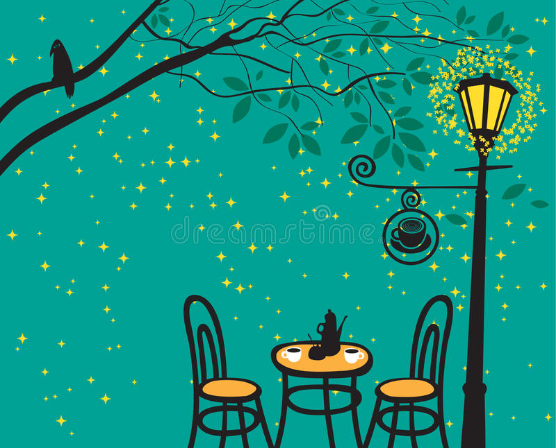 Download Night landscape stock vector. Image of cafe, menu, cover - 24488693