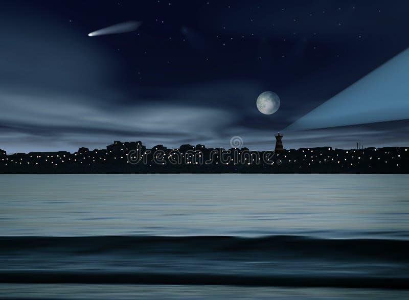 Download Night landscape stock illustration. Illustration of landscape - 664068
