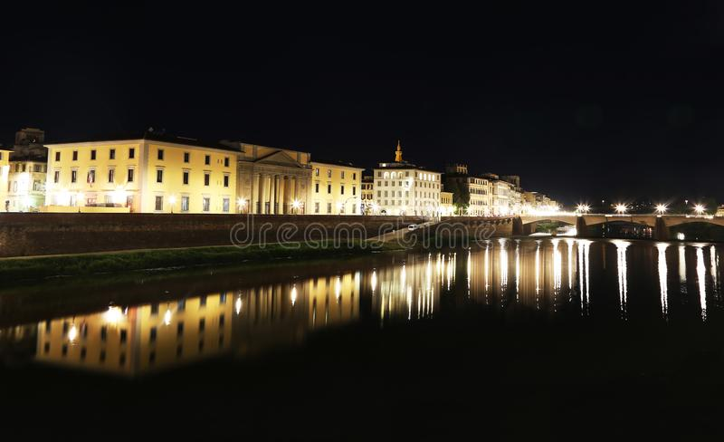 Florence or Firenze city night landscape Italy royalty free stock photography