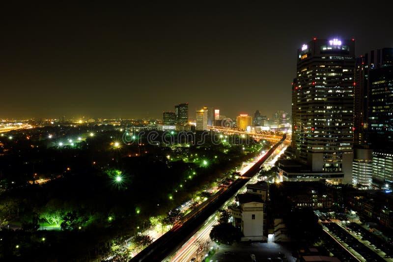 Night landscape in Bangkok, Thailand stock photos