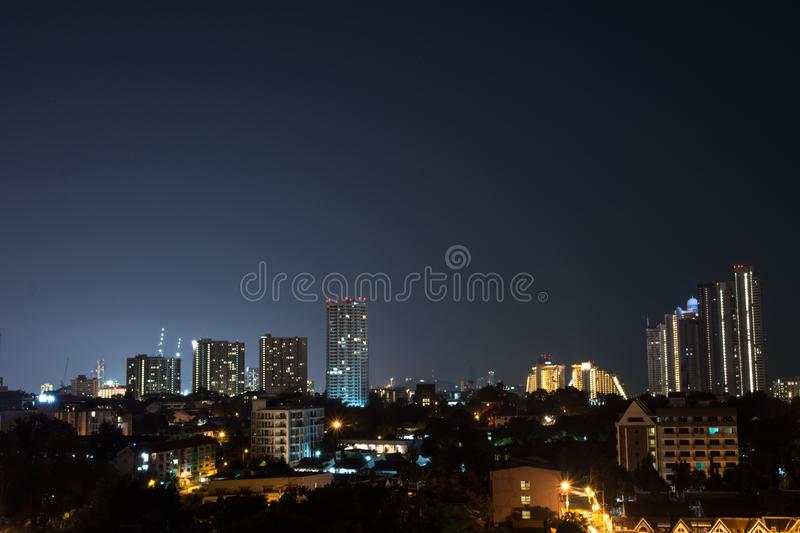 Night Landscape in down town stock photography