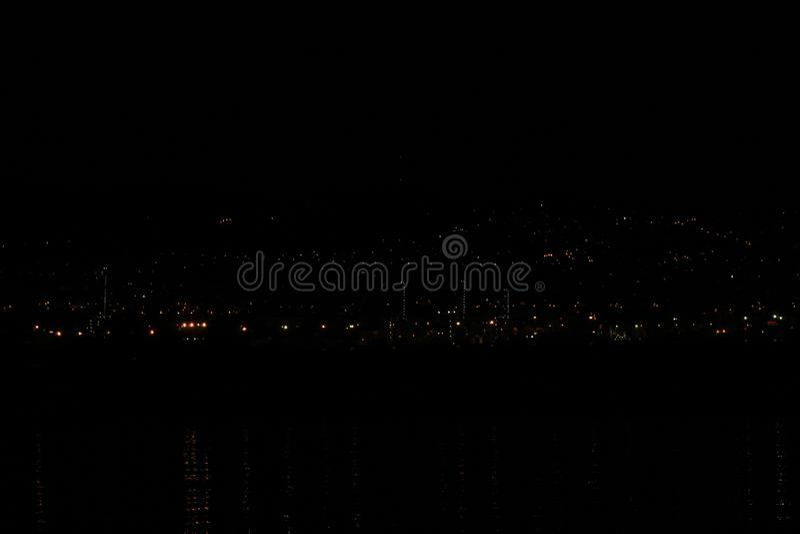 Night Landscape in Pontevedra stock photos