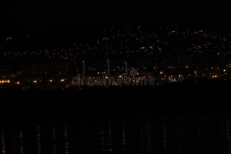 Night Landscape in Pontevedra stock images