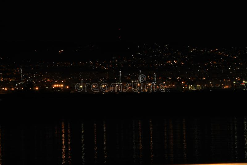Night Landscape in Pontevedra royalty free stock images