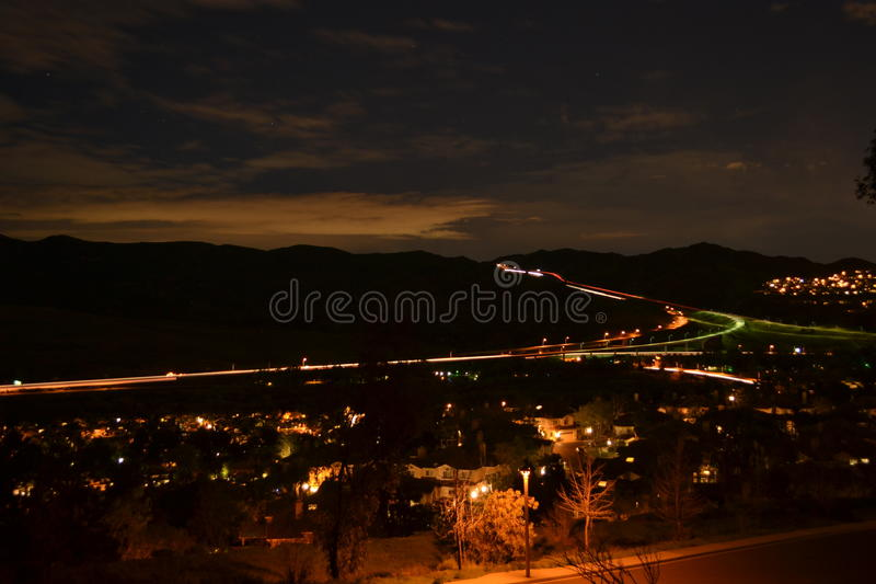 Night Landscape Residential stock photo