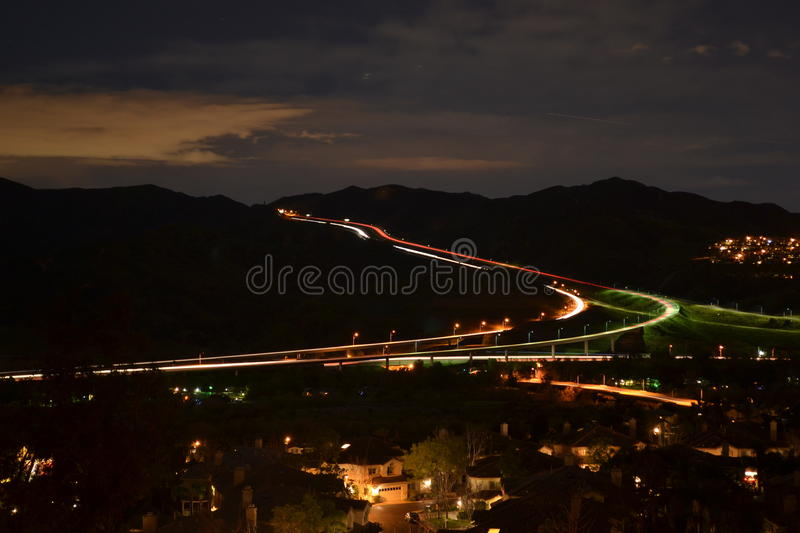 Night Landscape Residential stock image