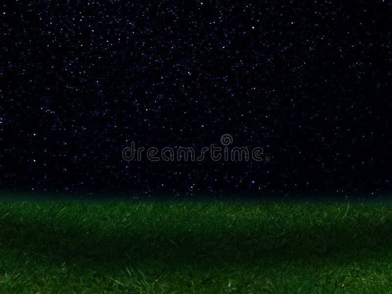 Night landscape sky stars constellations vector illustration