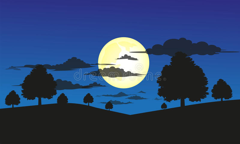 Night Landscape. royalty free stock images