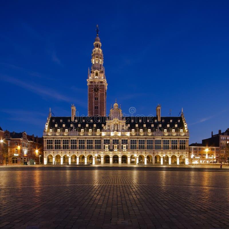 Night Leuven stock images