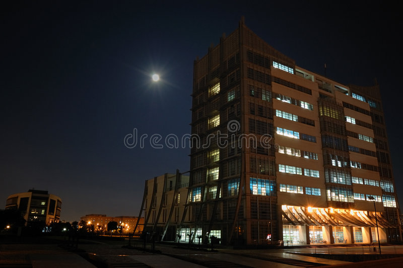 Night Library royalty free stock photography