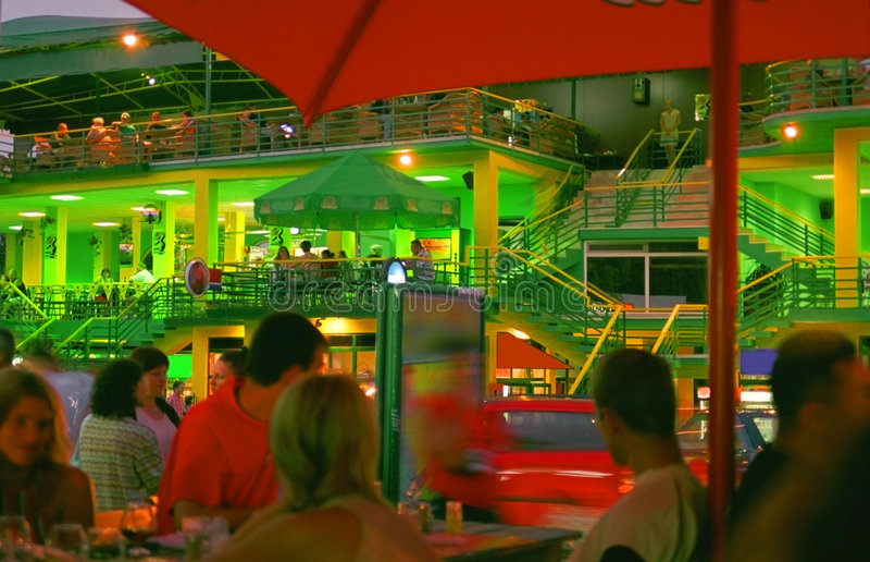 Night Life in Neptun City stock image