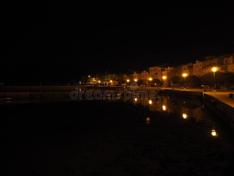 Night life. On island stock photography