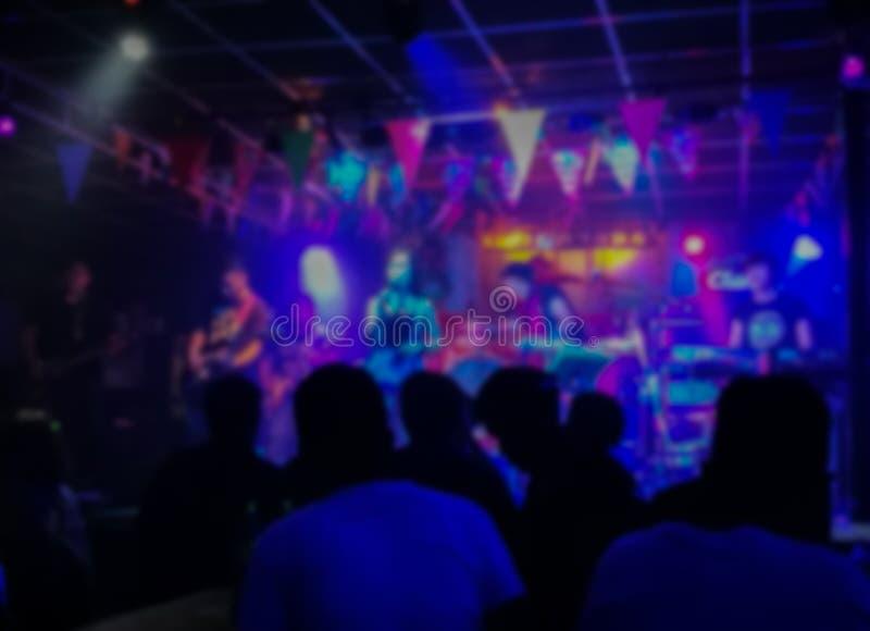 Night life party. Kalasin Thailand Asia, Defocused royalty free stock photos