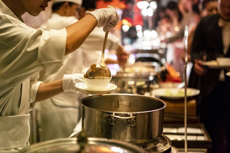 Night life street food in bangkok thailand stock photography