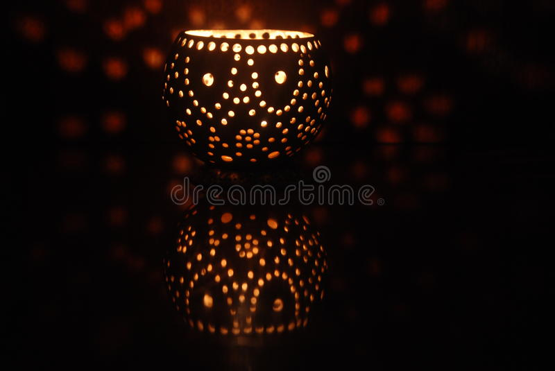Night Light coconut lamp royalty free stock images