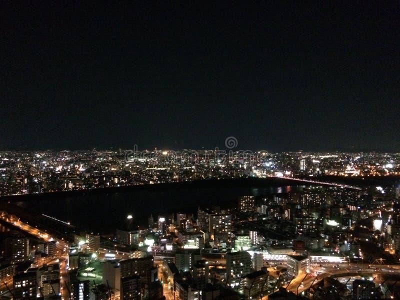 Night Sky Osaka Kansai Japan Travel stock photography