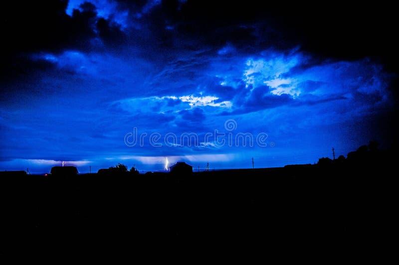 Night lightning over stock photography