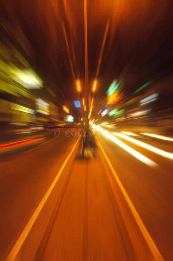 Night lights. Night traffic lights on a street city