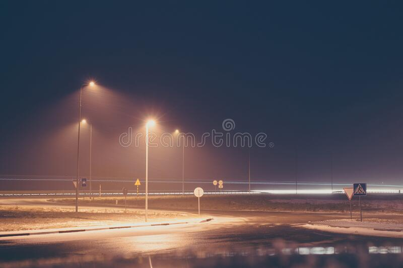 Night lights royalty free stock images
