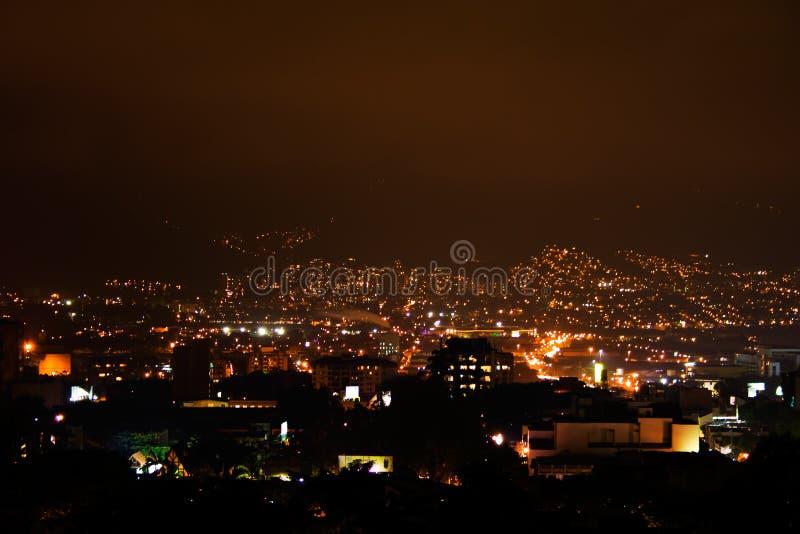 Night lights at Bogota royalty free stock photos