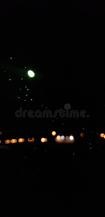 Night lights bokeh background royalty free stock images