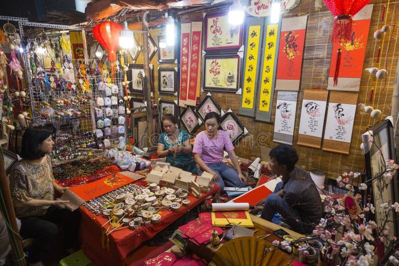 Night market in Ho Chi Minh city royalty free stock image